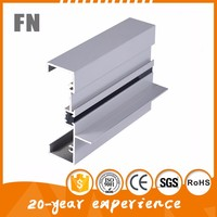 aluminum profile double u channel for window customized and folding door