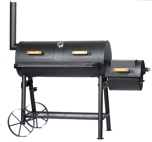 Offset Smoker Charcoal BBQ Grill with Large Cooking Area for Big Party