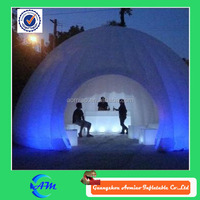 Led light pvc tent, inflatable tent inflatable clear dome tent for work/ bar