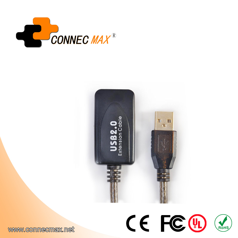 25m USB 2.0 cable A Male to A Female Passive Extension Cable with chipset