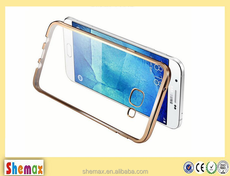 Shemax newest fashional protective case pink gold side soft tpu cover for Samsung galaxy a5 2016