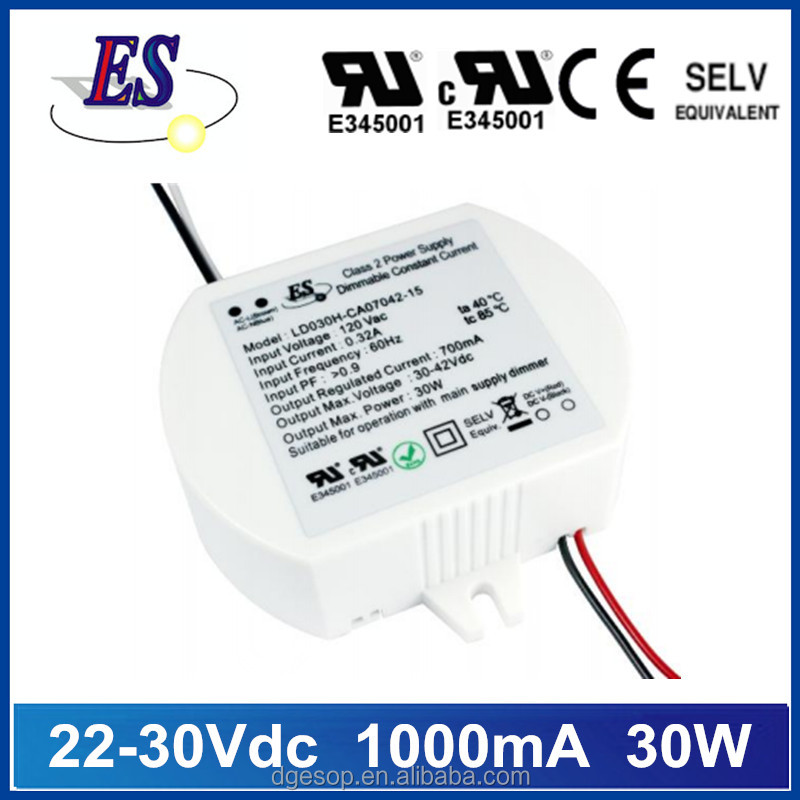 30W AC-DC Constant Current LED driver with Triac Dimming,Leading edge dimmable driver