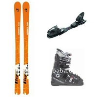 Alpine ski set, ski+binding+boot