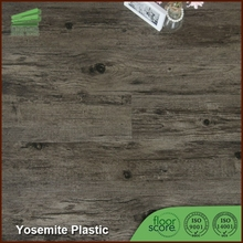 Waterproof beveled edge click lock vinyl plank flooring
