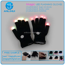 OEM & ODM Multi Colour Flashing Fingertips LED Rave Gloves