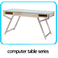 Modern home office table metal steel legs wooden computer study writing desks