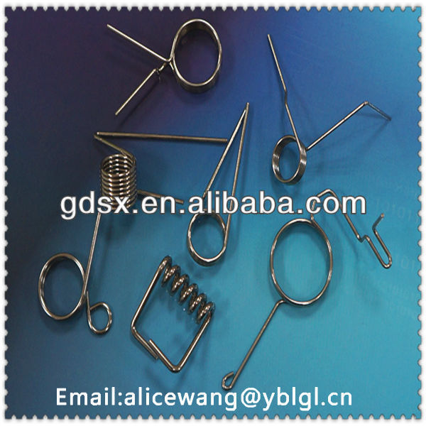 Custom stainless steel/spring steel flat metal spring clips/wire clips in dongguan factory