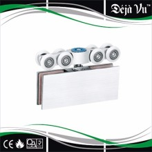 frameless glass roller clamp,sliding door hang wheel,pulley glass clamp