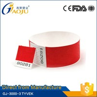 ISO CE Approval available more colors qr code wristband id band
