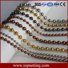 Decorative metal beads string curtain