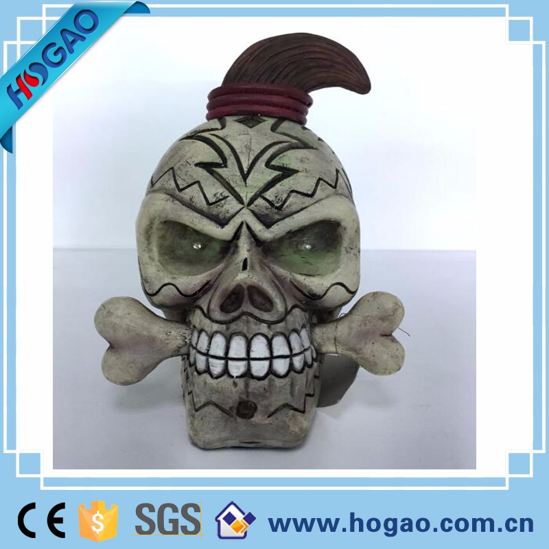 Decorative Flocked Mini Skull heads Resin Skull Wholesale