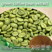 100% Natural Green Coffee Bean Extract, Green Coffee Bean Extract Chlorogenic Acid 50%