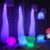 16 colors outdoor garden night club decoration rechargeable led coffee table lamp