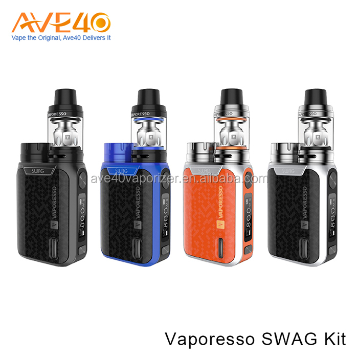 2017 Best Selling Ecig Vaporesso Swag Kit Powered by Single 18650 Battery