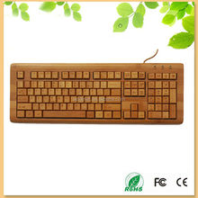 new products french keyboard 108 keys multimedia wired bamboo keyboard