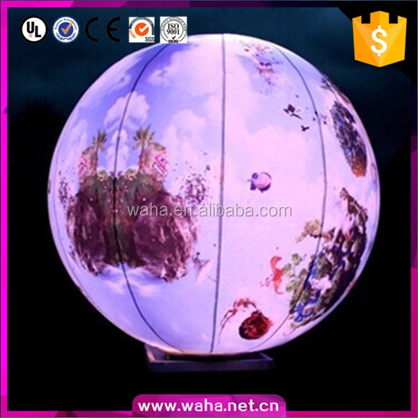 Creative LED inflatable planets ball,shopping mall promotion use