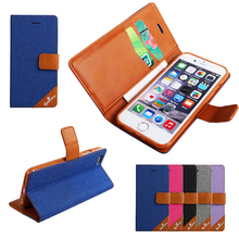 LZB New arrival High Quality PU leather cover for iphone 6 leather flip wallet case