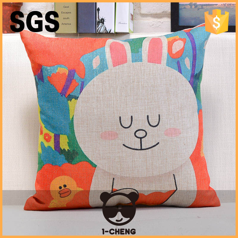 New arrival cartoon design linen fabric massager cushion