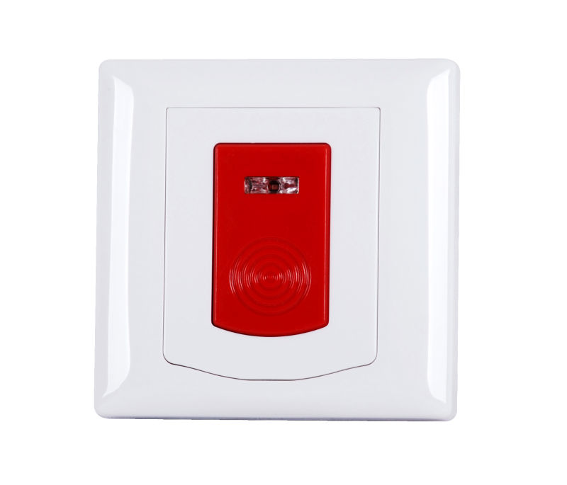New design wireless fire alarm push button emergency panic button for indoor wall mounting