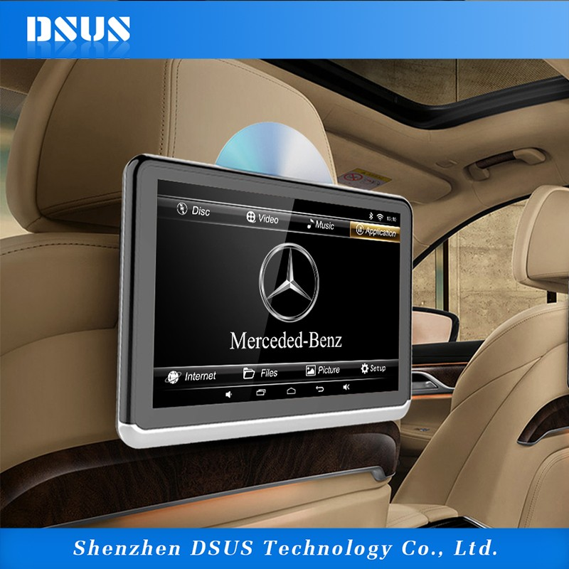 DSUS android pioneer car dvd player 10.1 inch headrest tablet support smartlink and built- in battery