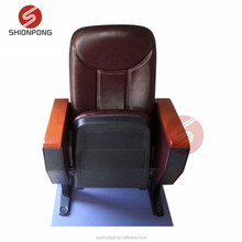 2018 New Auditorium Seat Factory Sale Auditorium Chair with Writing Pad PU Cinema Chair