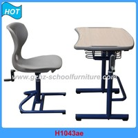 School Desk Chair Metal Frame and Wood Board Manufacturer in Guangzhou