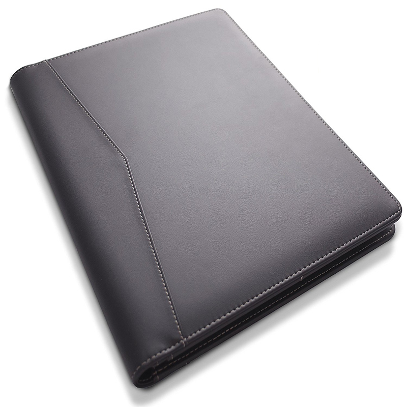 Manufacturer Custom Hardcover Document Organizer Portfolio Bill Expanding A4 Size File Leather Folder