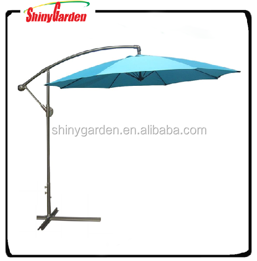10ft Steel 8ribs Outdoor patio cantilever Umbrella, outdoor banana umbrella, hanging umbrella