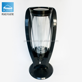 plastic beer dispenser 100oz 3l beer tower draft beer tower with ice tube