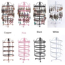 Rotating Countertop Jewelry Display Rack Earring Pendants Display Stand