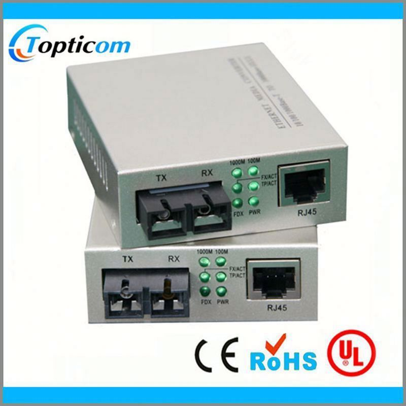 Telecommunication tools 10 100M single mode fiber media converter