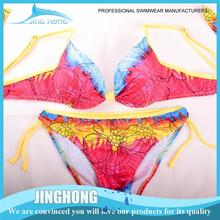 Swimwear bikini transparent bikini model with high quality
