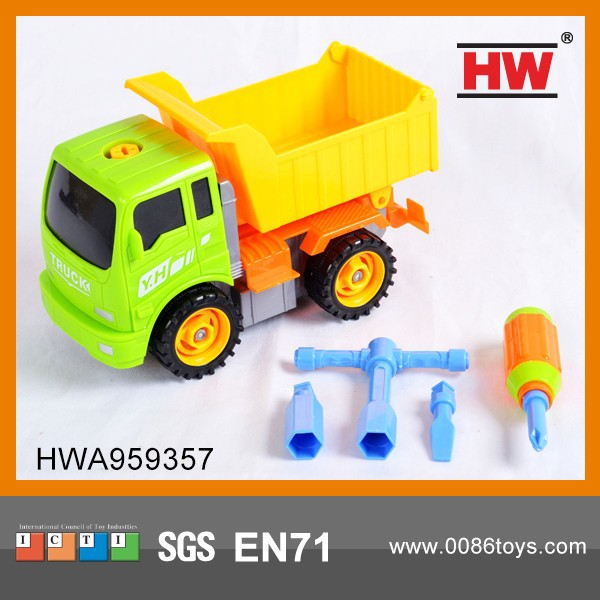 Most Popular Plastic Cartoon Truck Toy Take Apart Toy Cars