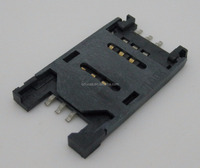 HINGE TYPE 2.5H TOP ENTRY SMT 6PIN SIM CARD HOLDER CONNECTOR WITH FULL PLASTIC SHELL