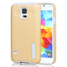 High Quality Mobile Phone Accessory For Samsung S5 Case, TPU+PC Hybrid Phone Case For Samsung S5 Wholesale