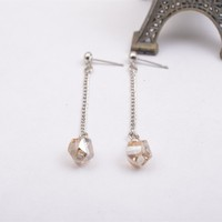 E2585-01Handmade Earrings Dangly Crystal Element FAIR TRADE Hippy Boho Earrings for Women