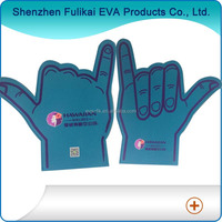 Blue Color QR Code Print EVA Foam Fingers
