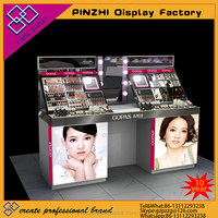 High modern skin care cosmetics furniture for shopping mall display