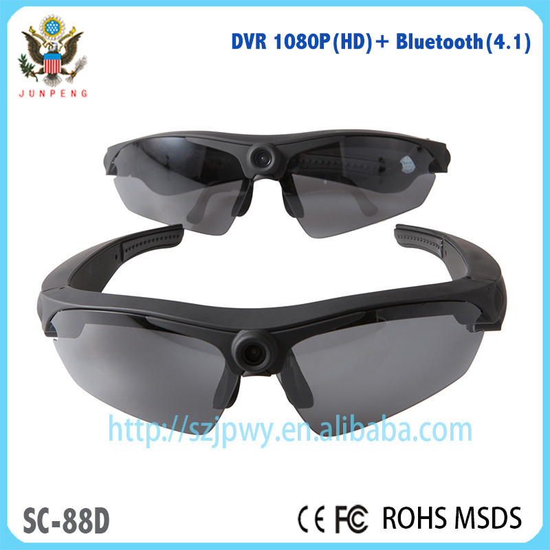 Waterproof MINI DVR sunglasses with polarized lens HD1080P HD DVR Camera & bluetooth 4.1 sunglasses stereo headset for sport DV