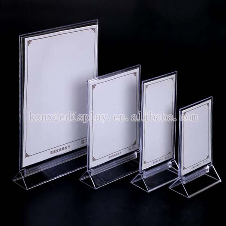 factory custom acrylic table tablet stands, exhibition card, classified card