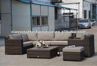 garden rattan sofa/indoor rattan furniture