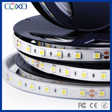 DC12V dimmable 60LED per meter IP65 waterproof flexible led stripe warm white SMD 5050 led strip light