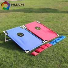 Mini plastic corn hole bean bag toss game with 8pcs bean bags
