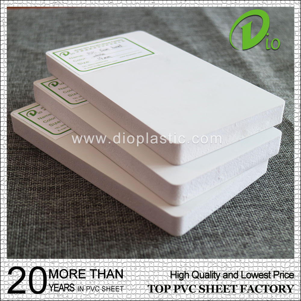 Jinan Dio wholesale price 1mm 2mm white pvc foam board