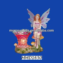 Decorative Purple Polyresin Fairy Electric Waste Oil Burner