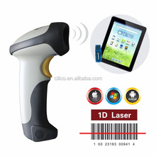 wireless bluetooth barcode scanner for ios/android (1D Laser)