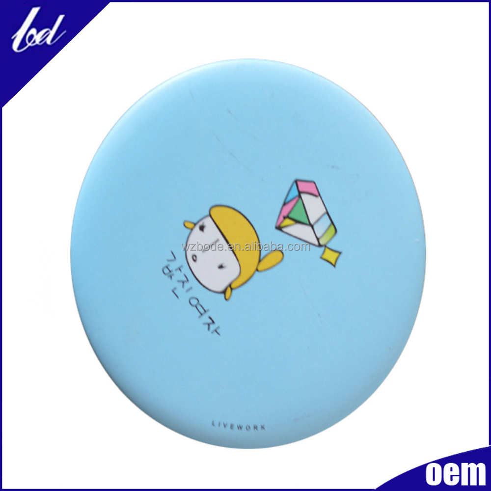 Decoration metal mirror souvenir pocket compact mirrors wholesale