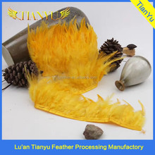 manufacturer wholesale colorful rooster feather fringe feather trims for clothing