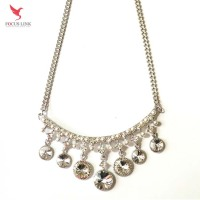Fashion Chocker Rhinestone Pearl Combination Necklace