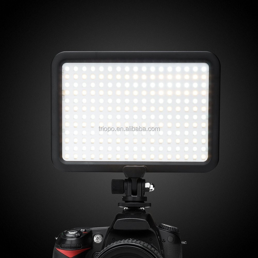 Triopo TTV204 Led Panel Studio Video Light with Dual Color Temperature 3200K-5600K and CRI 88 + Battery Charg